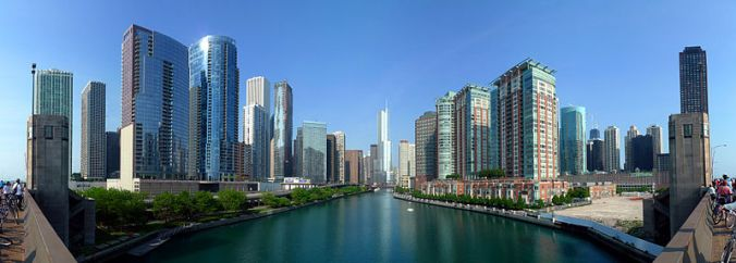 Le centre-ville de Chicago